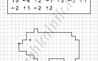 Графический диктант Медведь: рисунок по клеточкам для дошкольников