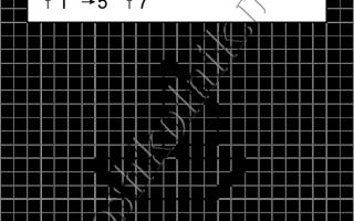 Графический диктант Корабль: рисунок по клеточкам для дошкольников