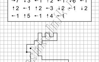 Графический диктант Олененок: рисунок по клеточкам для дошкольников
