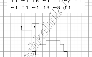 Графический диктант Журавль: рисунок по клеточкам для дошкольников
