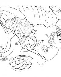 Раскраски барби приключения русалочки