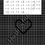 Графический диктант Сердце: рисунок по клеточкам для дошкольников